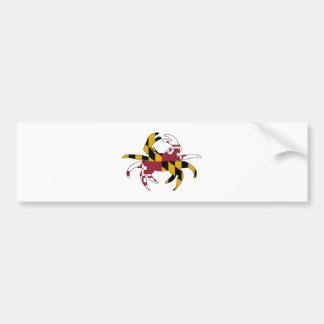 Maryland Flag Crab Bumper Sticker