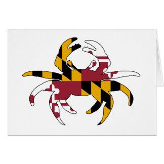 Maryland Flag Crab Card