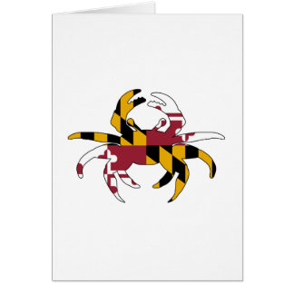 Maryland Flag Crab Card