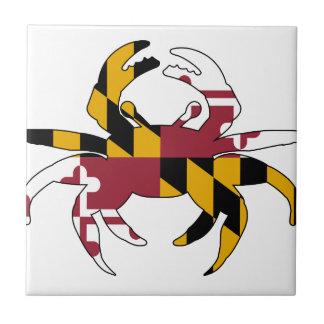Maryland Flag Crab Ceramic Tile