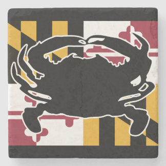 Maryland Flag/Crab marble coaster