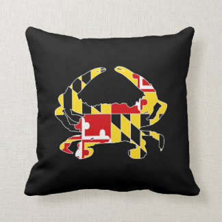 "Maryland Flag Crab Polyester Throw Pillow 16"" x 16"