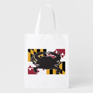 Maryland Flag/Crab reusable bag
