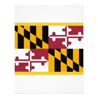 Maryland Flag Custom Letterhead