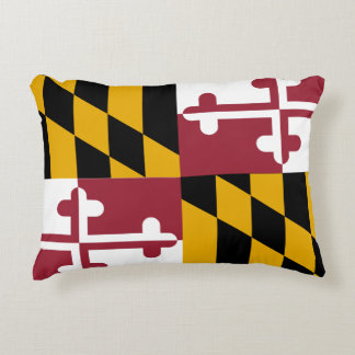 Maryland Flag Decorative Pillow