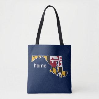 Maryland Flag home bag - navy blue