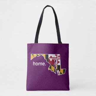 Maryland Flag home bag - plum