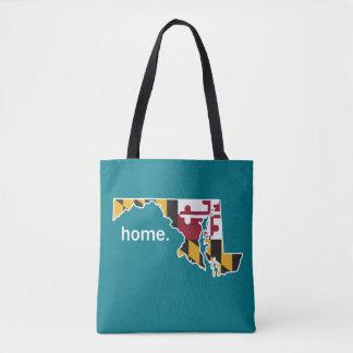 Maryland Flag home bag - teal