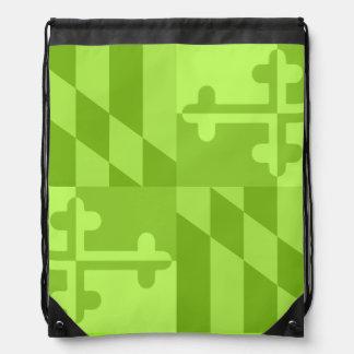 Maryland Flag Monochromatic bag - lime green