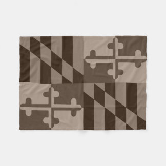 Maryland Flag Monochromatic blanket - brown