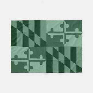 Maryland Flag Monochromatic blanket - forest green