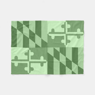 Maryland Flag Monochromatic blanket - lime green