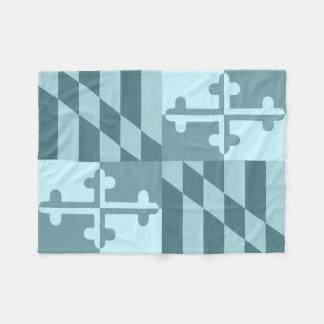 Maryland Flag Monochromatic blanket - sky blue