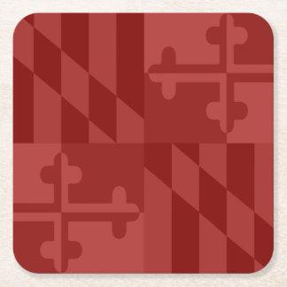 Maryland Flag Monochromatic coaster - red