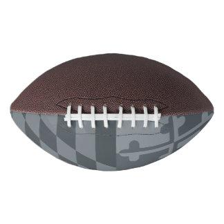 Maryland Flag Monochromatic football - grey