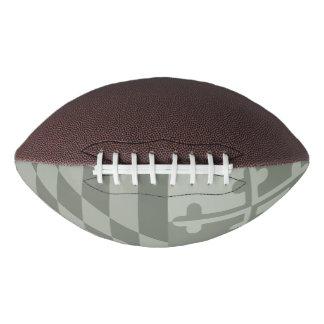 Maryland Flag Monochromatic football - olive