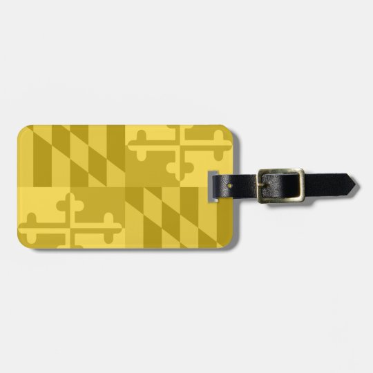 Maryland Flag Monochromatic luggage tag - yellow