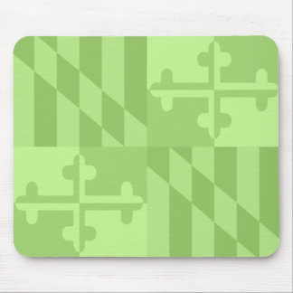 Maryland Flag Monochromatic mouse pad - lime green