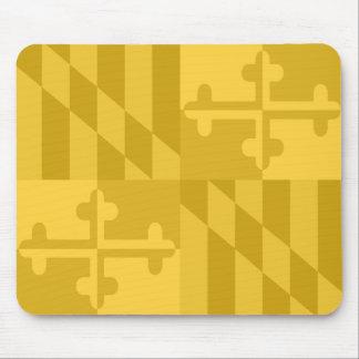 Maryland Flag Monochromatic mouse pad - yellow