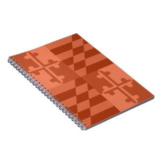 Maryland Flag Monochromatic note book - orange