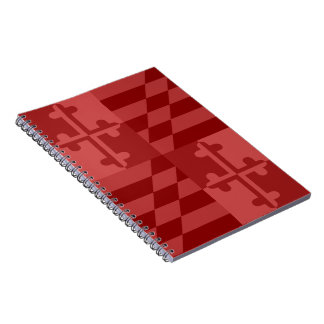 Maryland Flag Monochromatic note book - red