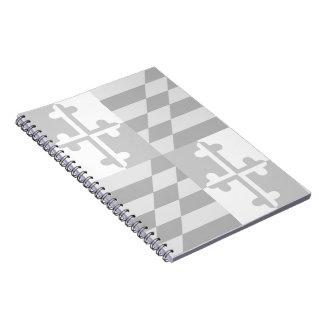 Maryland Flag Monochromatic notebook-*CUSTOMIZABLE Notebook
