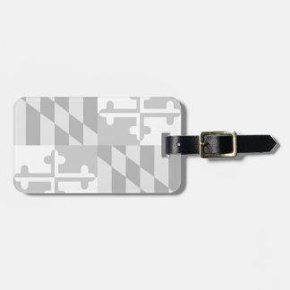 Maryland Flag Monochromatic tag- *CUSTOMIZABLE* Luggage Tag