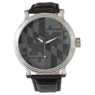 Maryland Flag Monochromatic watch - black