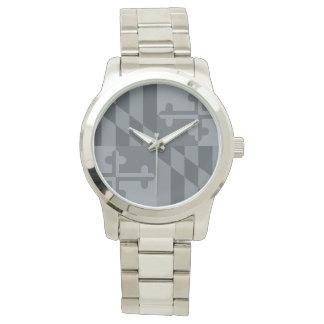 Maryland Flag Monochromatic watch - grey