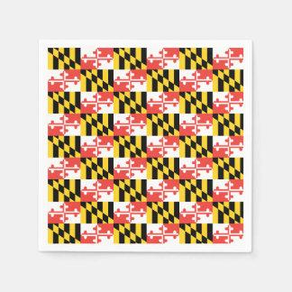 Maryland Flag Napkins Disposable Napkins