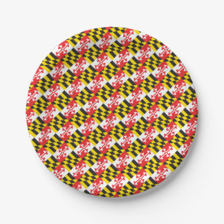 Maryland Flag Paper Plate
