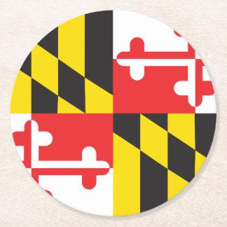 Maryland Flag Round Paper Coaster