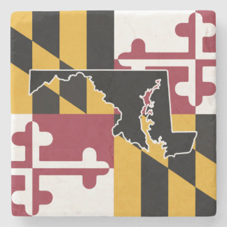 Maryland Flag/Sate marble coaster Stone Beverage Coaster