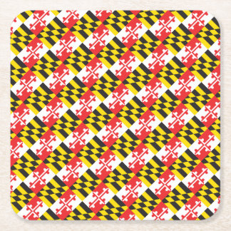 Maryland Flag Square Paper Coaster