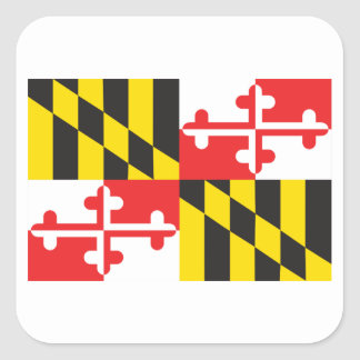 Maryland Flag Square Sticker