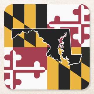 Maryland Flag/State coaster