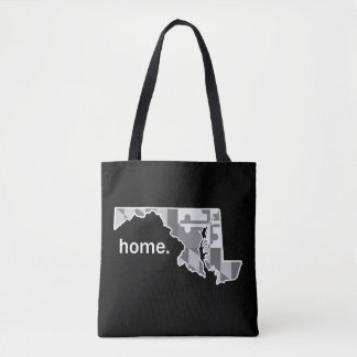 Maryland Flag/State home tote - black