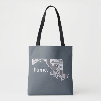 Maryland Flag/State home tote - grey