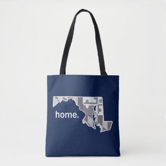 Maryland Flag/State home tote - navy blue