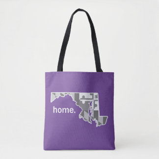 Maryland Flag/State home tote - purple