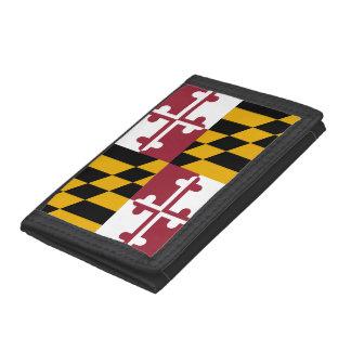 Maryland Flag Tri-fold Wallets
