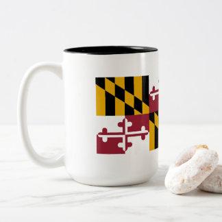 Maryland Flag Two-Tone Coffee Mug