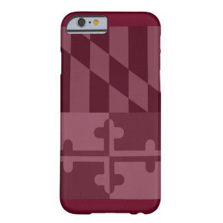 Maryland Flag (vertical) phone case - burgandy