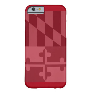 Maryland Flag (vertical) phone case - red