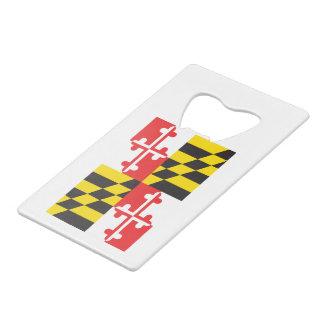 Maryland Flag Wallet Bottle Opener