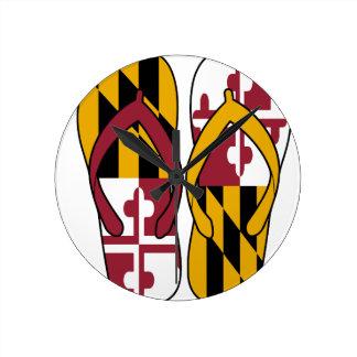 Maryland Flip Flops Round Clock