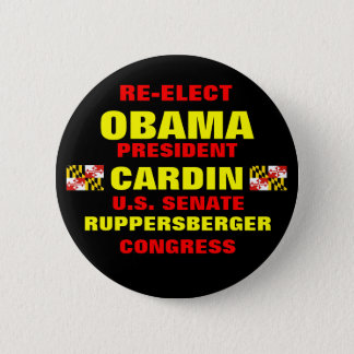 Maryland for Obama Cardin Ruppersberger 2 Inch Round Button