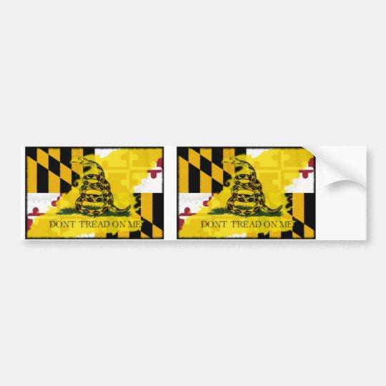 Maryland Gadsden Flag Bumper Sticker