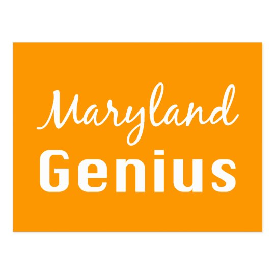 Maryland Genius Gifts Postcard