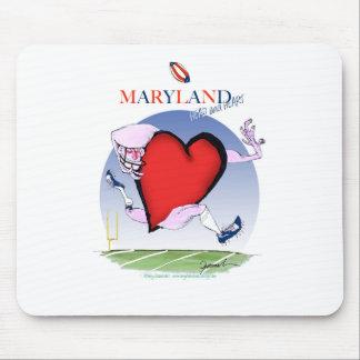 maryland head heart, tony fernandes mouse pad